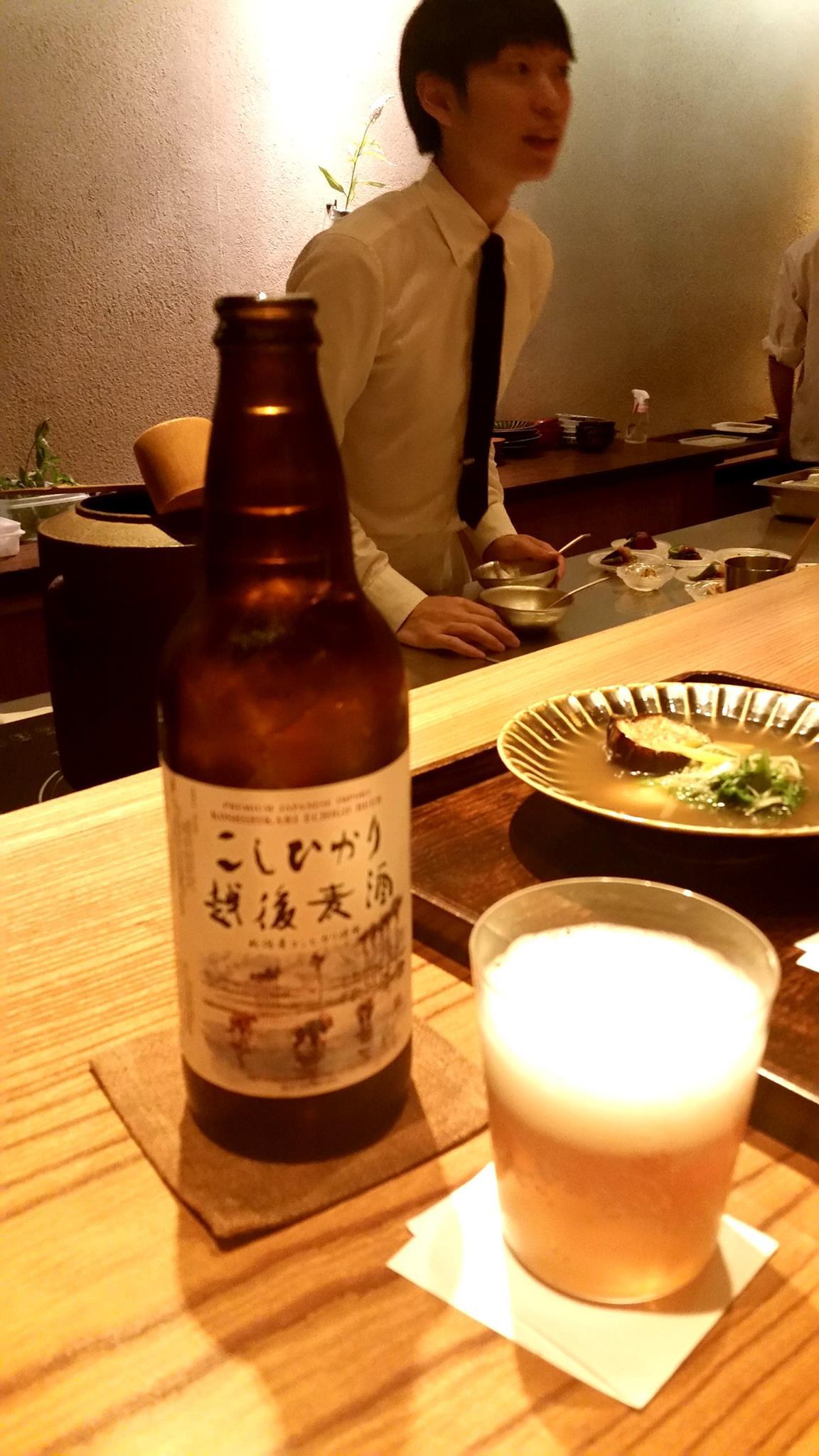 Echigo Koshihikari rice beer