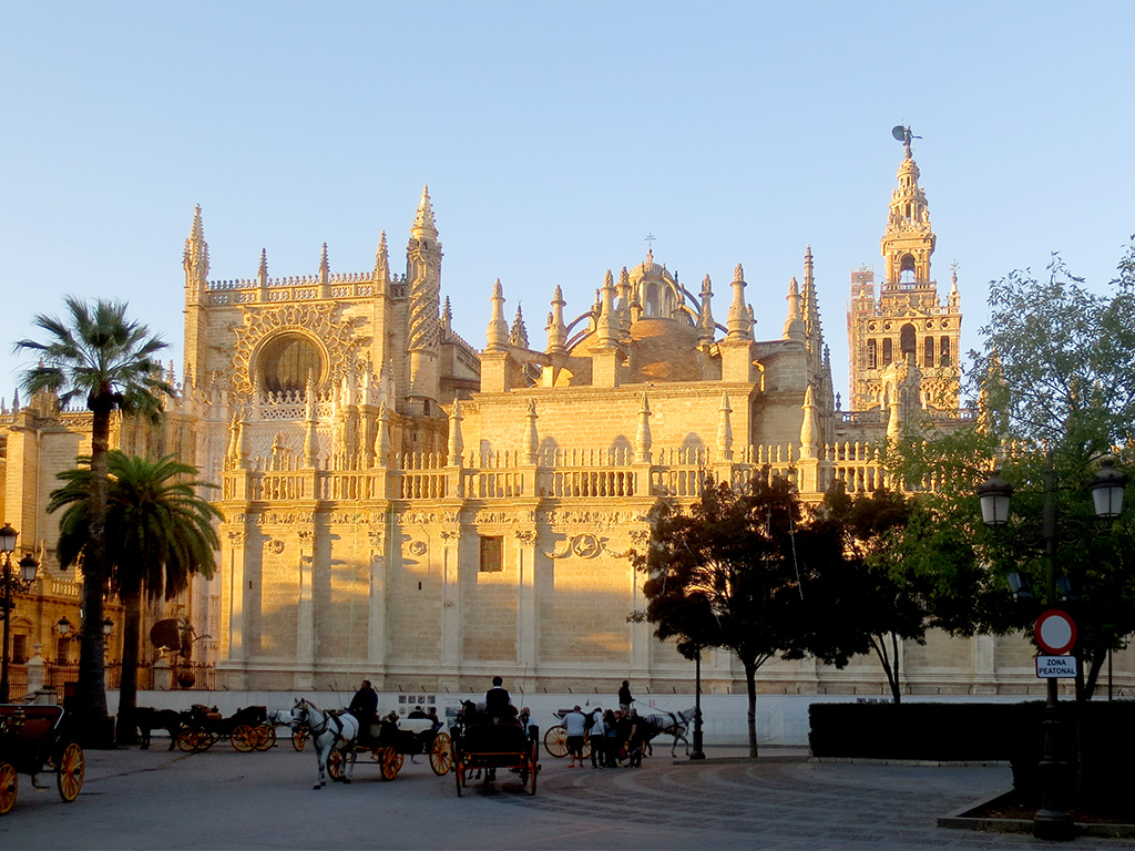 Seville Cathedral at Sunset