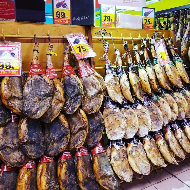 Legs of Jamón ibérico