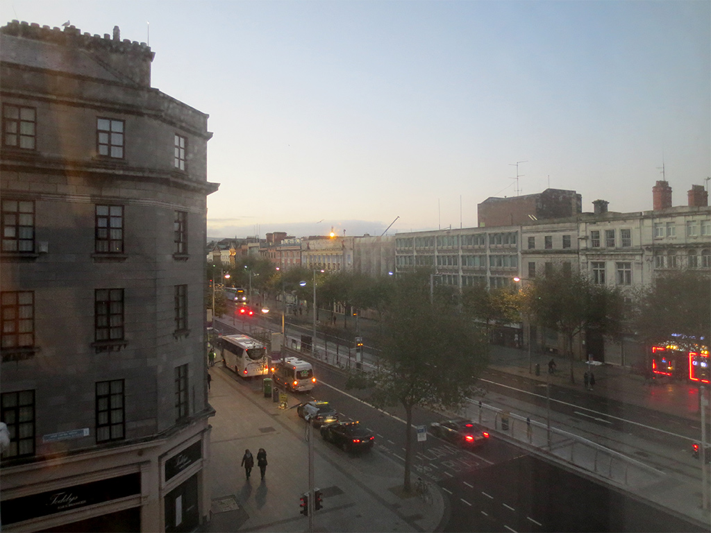 Hotel Room View of O'Connell Street