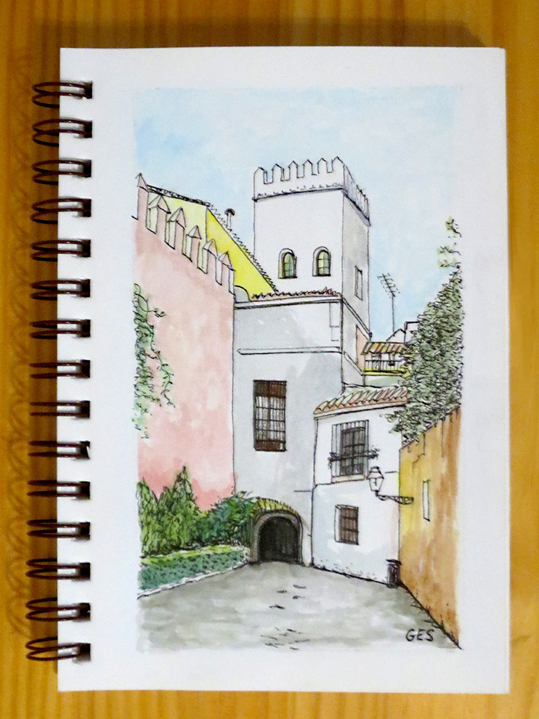 A Santa Cruz Street, Seville, Spain