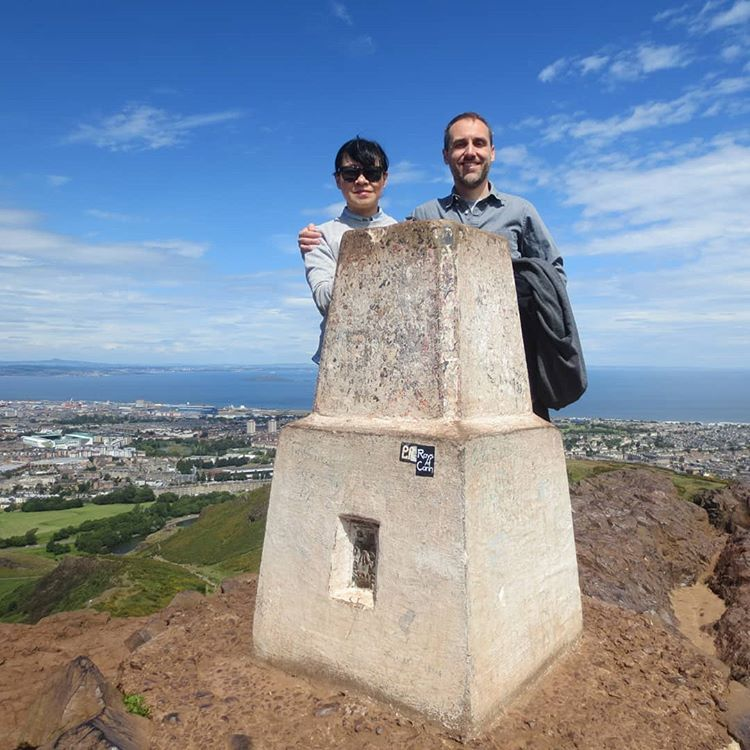 At the summit of Everest! I mean, Arthur's Seat.