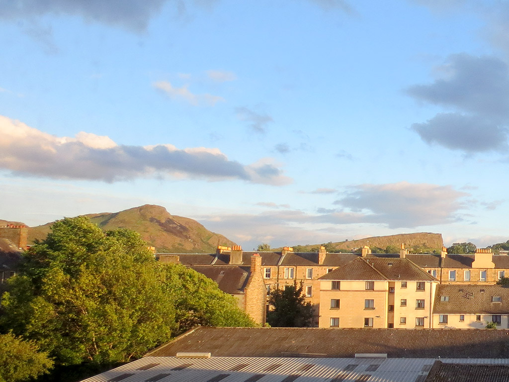 Arthur's Seat from our Window