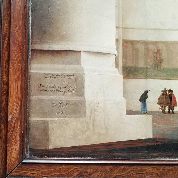"""""""The interior of St. Bravo's Church"""" signatur"""