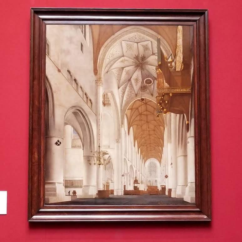"""The interior of St. Bravo's Church"" by Peiter Jansz Saeredam"